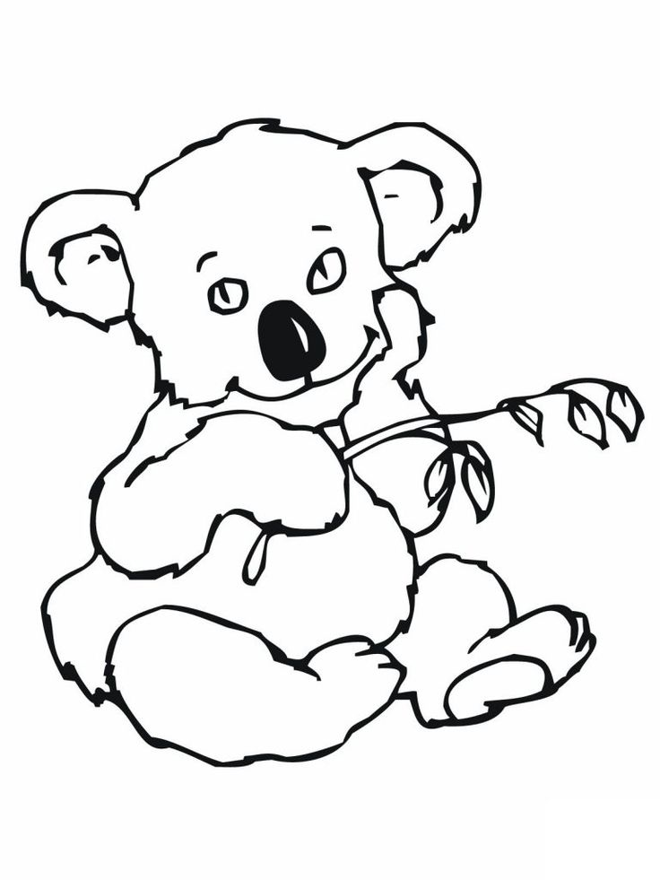 for sunday school Free Printable Koala Coloring Pages For Kids easy