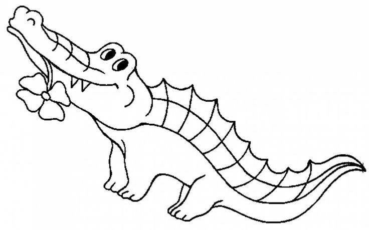 for sunday school Free Printable Crocodile Coloring Pages For Kids free printable