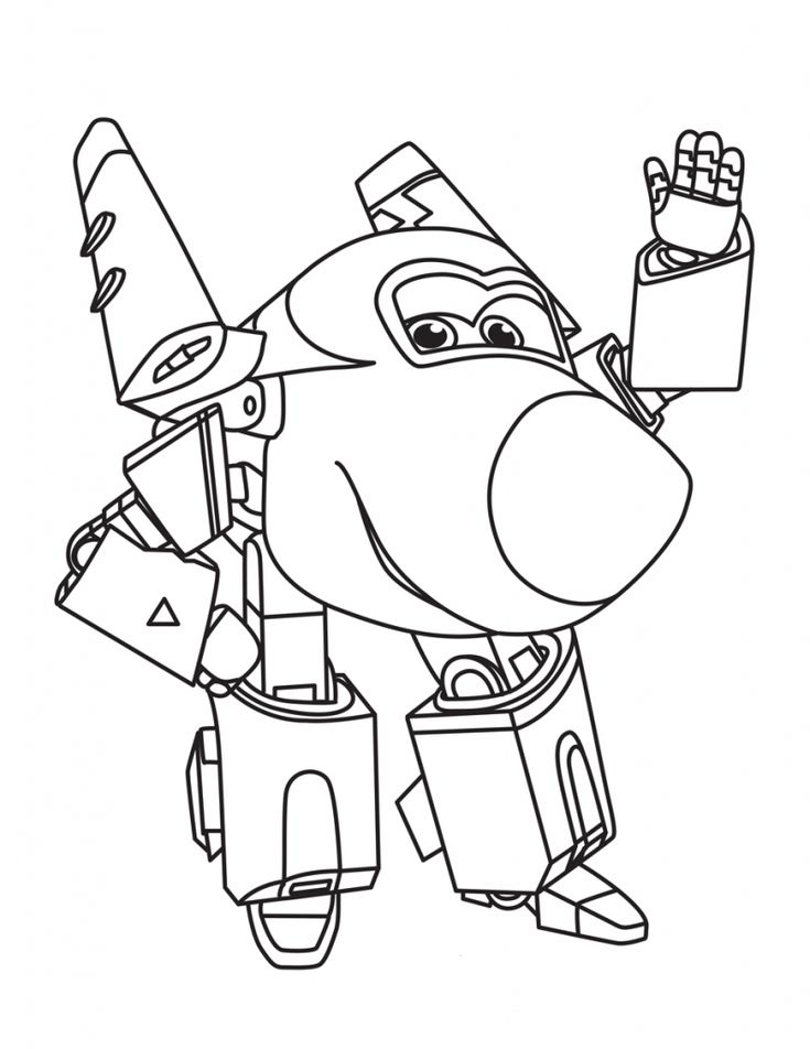 free printable Super Wings Coloring Pages - Best Coloring Pages For Kids for adults