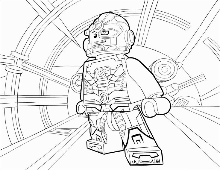simple Lego Superhero Coloring Pages - Best Coloring Pages For Kids preschool
