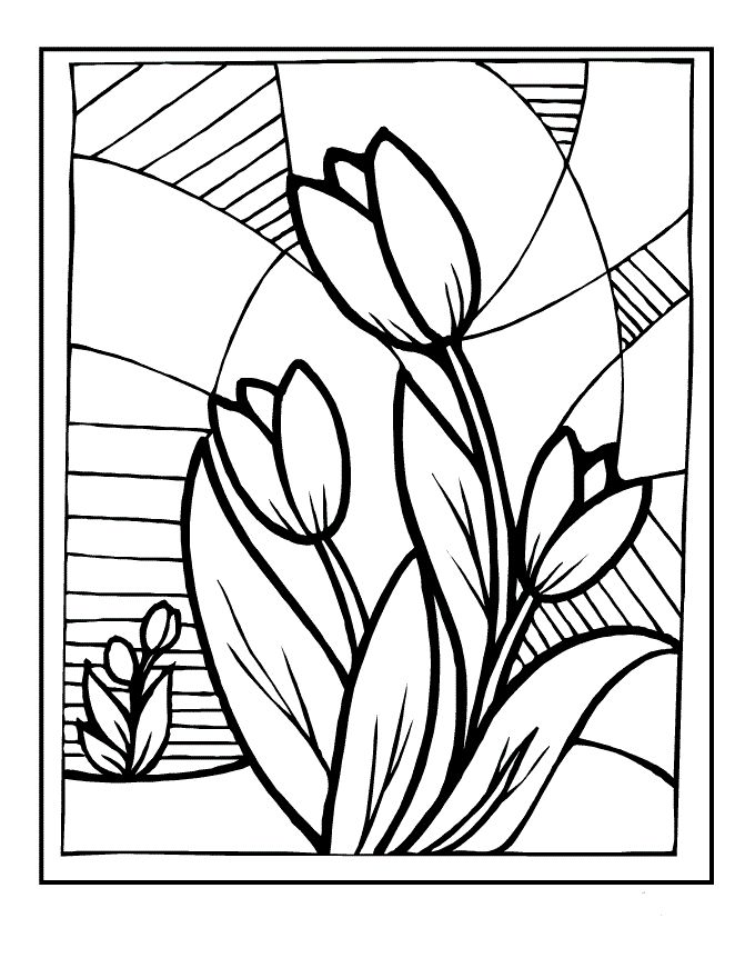 for girls Stained Glass Coloring Pages for Adults - Best Coloring Page... printable