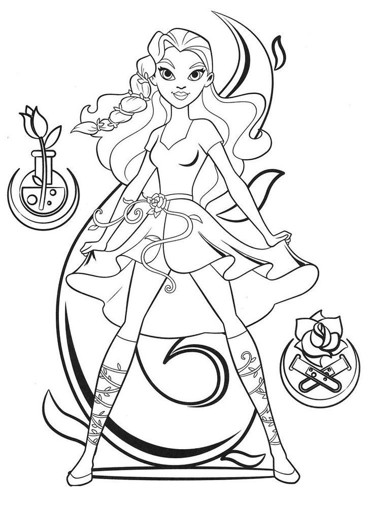 For Toddlers Dc Superhero Girls Coloring Pages Best