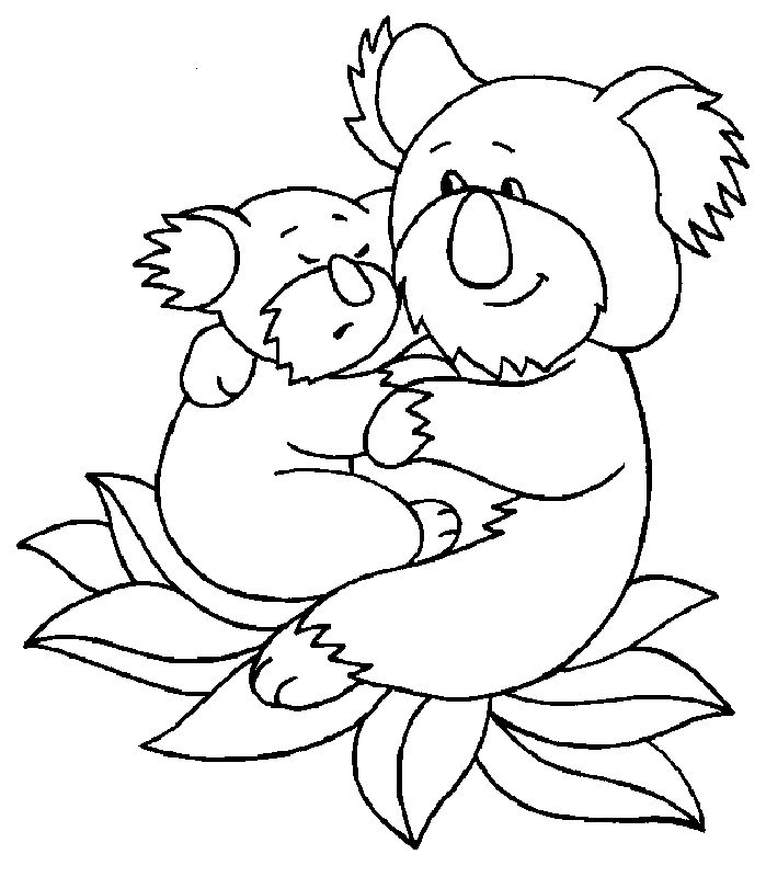easy Free Printable Koala Coloring Pages For Kids pdf