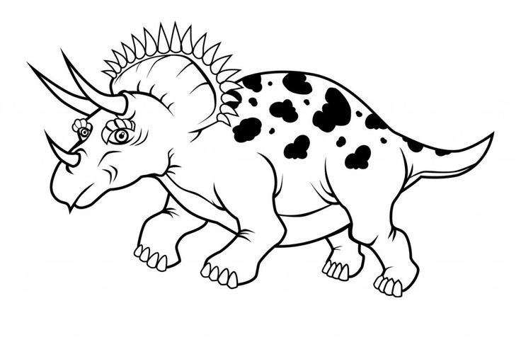 easy Free Printable Triceratops Coloring Pages For Kids free printable