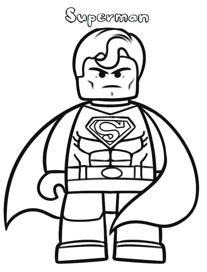 for teens Lego Superhero Coloring Pages - Best Coloring Pages For Kids easy