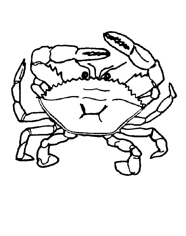 already colored Free Printable Crab Coloring Pages For Kids online