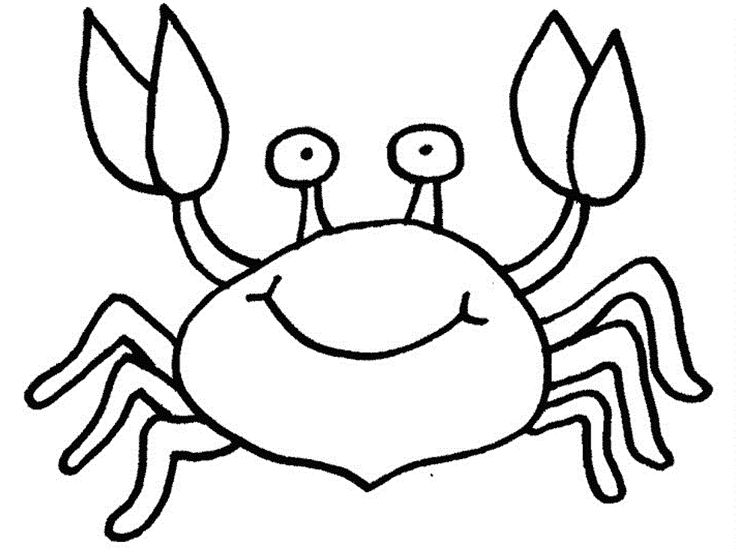 pdf Free Printable Crab Coloring Pages For Kids simple