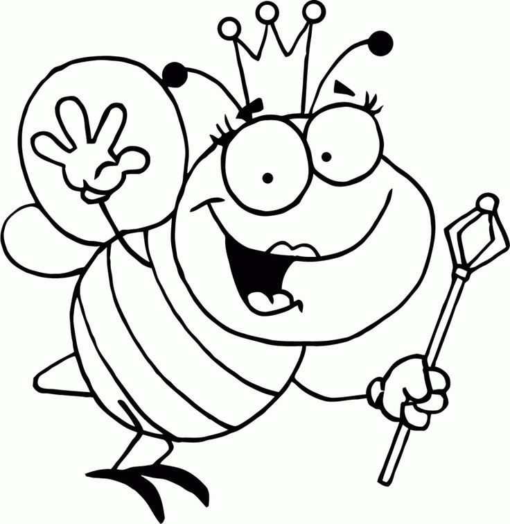 to print out Free Printable Bumble Bee Coloring Pages For Kids easy