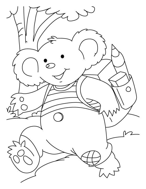 toddler Free Printable Koala Coloring Pages For Kids for sunday school