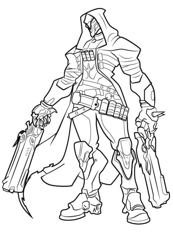 for adults Overwatch Coloring Pages - Best Coloring Pages For Kids for sunday school