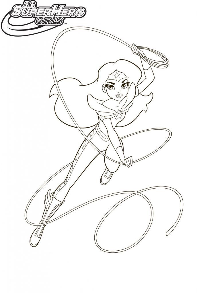 simple DC Superhero Girls Coloring Pages - Best Coloring Pages For ... to print out