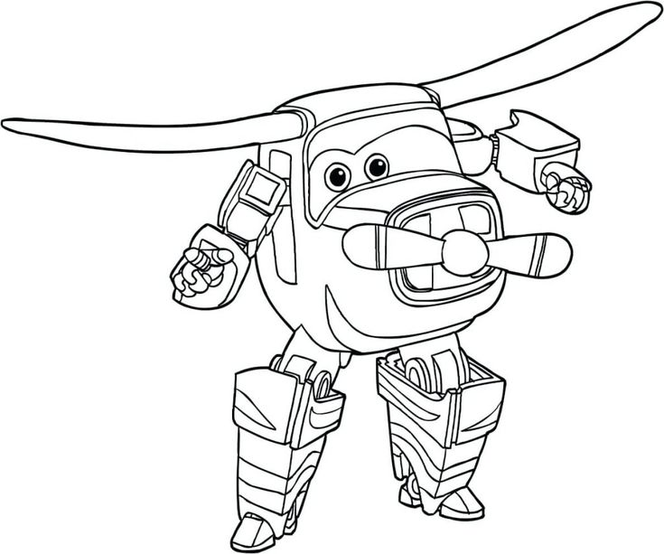 for sunday school Super Wings Coloring Pages - Best Coloring Pages For Kids to print out