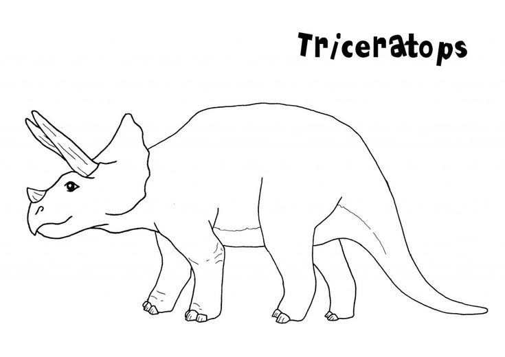 for adults Free Printable Triceratops Coloring Pages For Kids for toddlers
