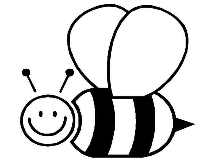 for kindergarten Free Printable Bumble Bee Coloring Pages For Kids simple