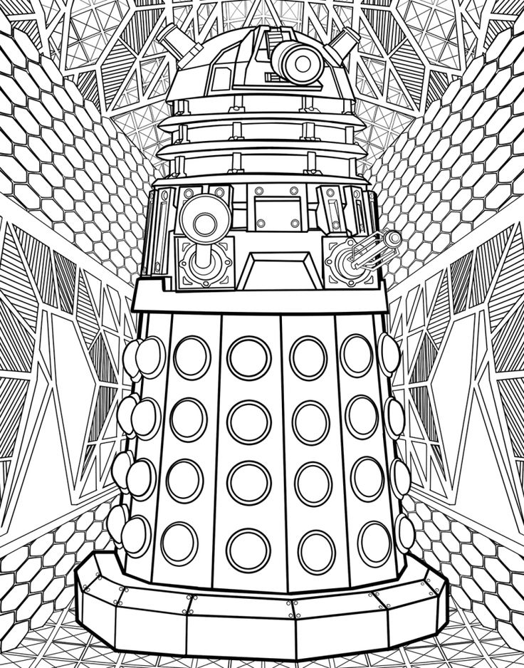 for boys Doctor Who Coloring Pages - Best Coloring Pages For Kids for toddlers