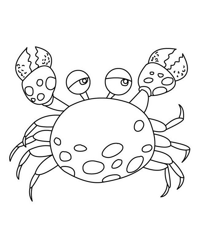 printable Free Printable Crab Coloring Pages For Kids for sunday school