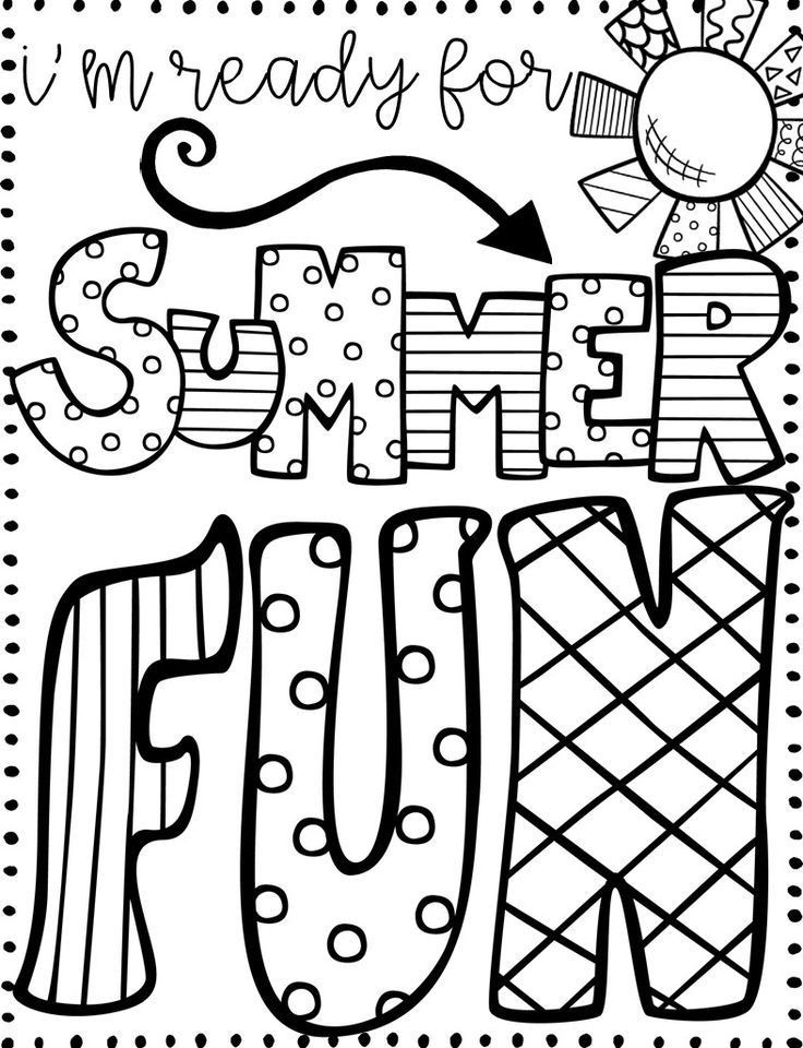 for girls Summer Coloring Pages for Kids. Print them All for Free. for kindergarten