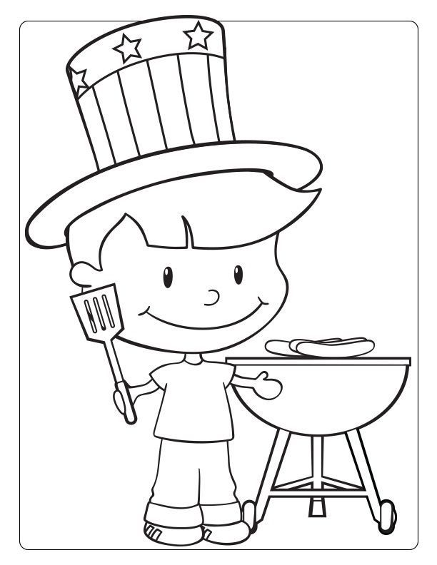 online July Coloring Pages - Best Coloring Pages For Kids simple