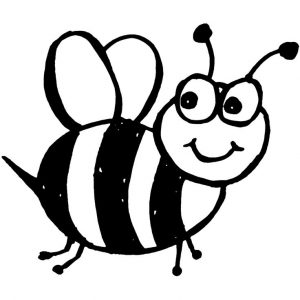 for girls Free Printable Bumble Bee Coloring Pages For Kids preschool