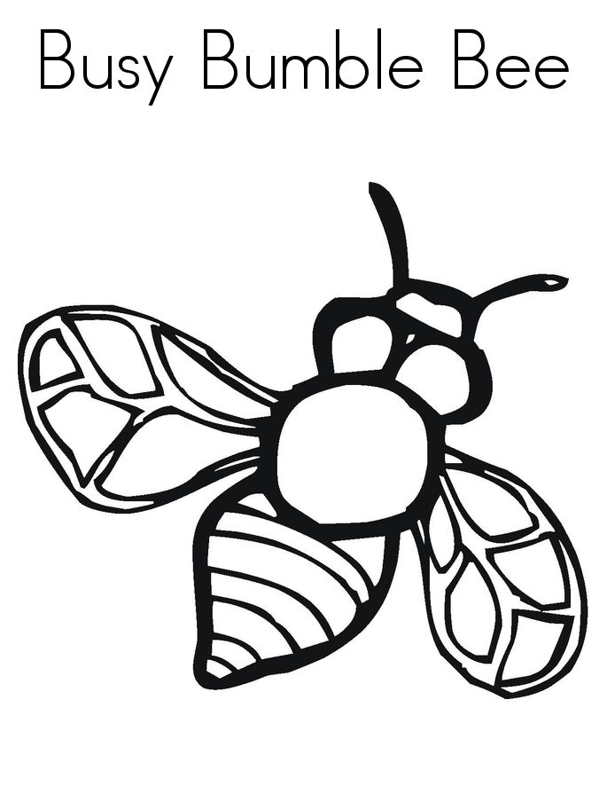 for kids Free Printable Bumble Bee Coloring Pages For Kids preschool