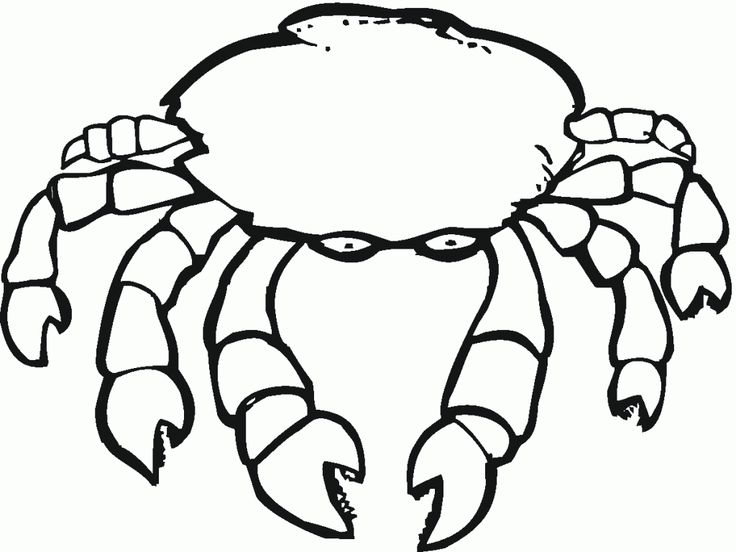 for sunday school Free Printable Crab Coloring Pages For Kids preschool
