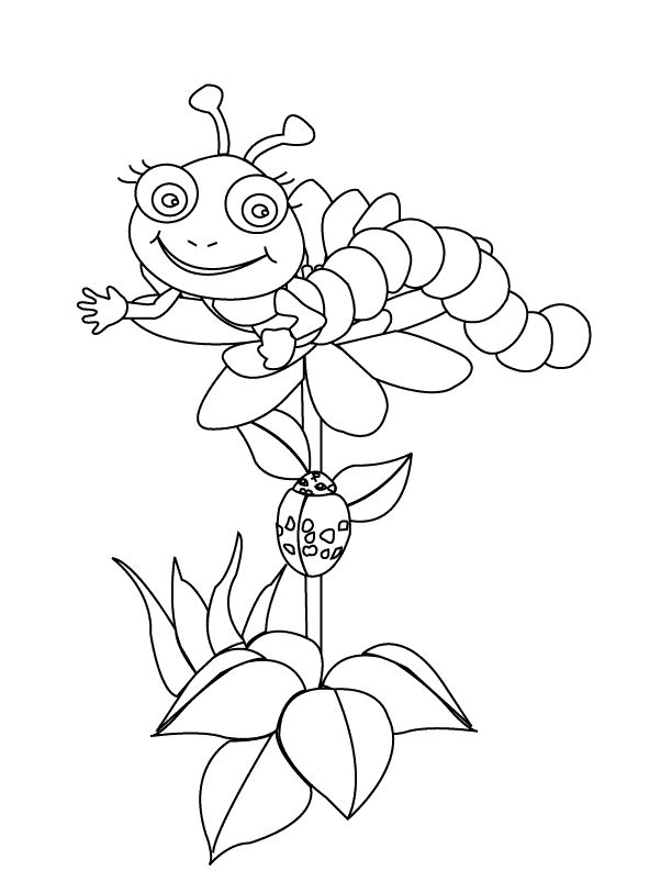 for toddlers Free Printable Caterpillar Coloring Pages For Kids preschool