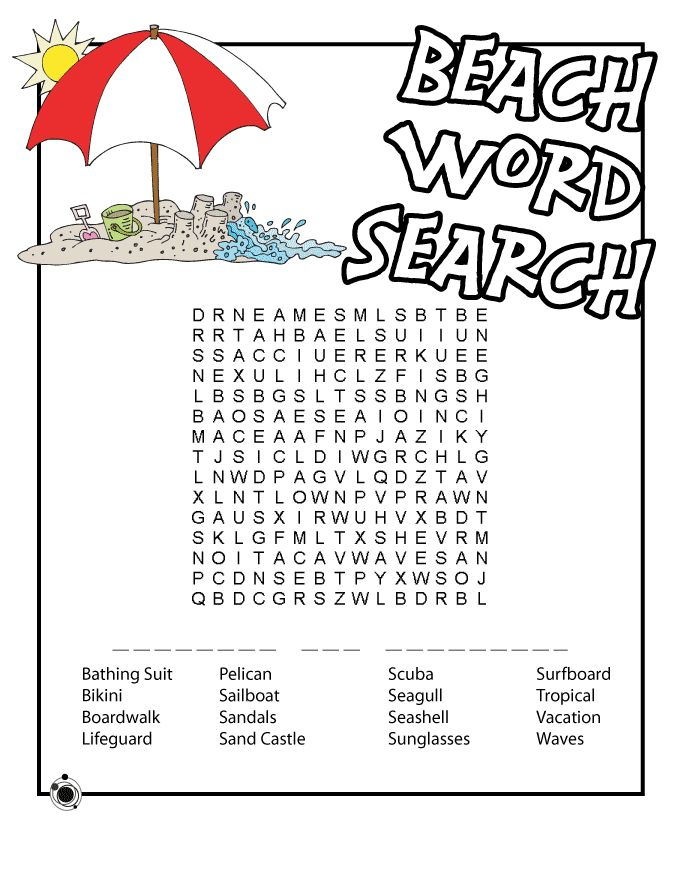 free Summer Word Search Puzzles - Best Coloring Pages For Kids printable