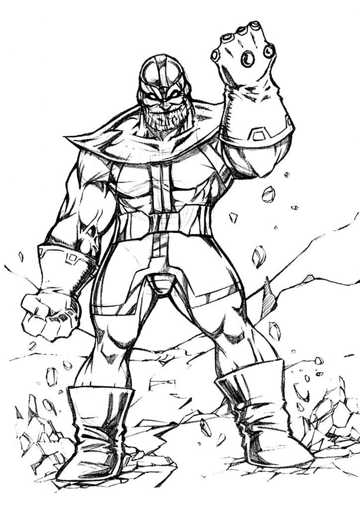 Already Colored Thanos Coloring Pages Best Coloring