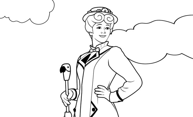 for kindergarten Mary Poppins Coloring Pages - Best Coloring Pages For Kids toddler