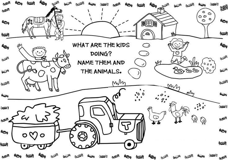 already colored Free Printable Farm Animal Coloring Pages For Kids for sunday school