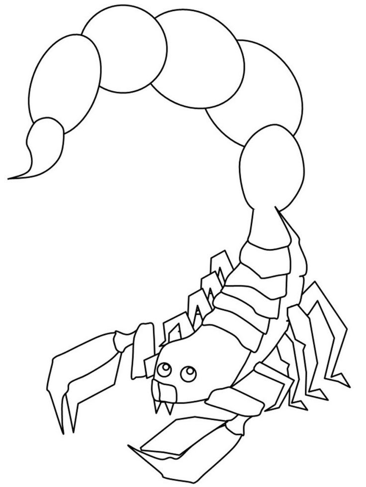 free printable Free Printable Scorpion Coloring Pages For Kids printable