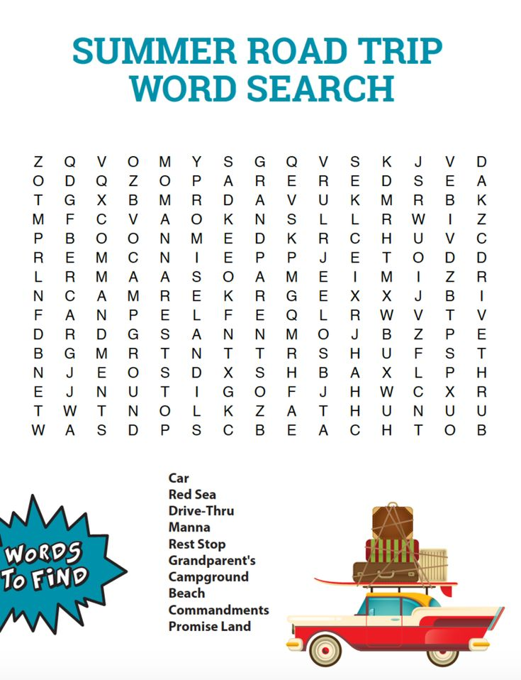 for sunday school Summer Word Search Puzzles - Best Coloring Pages For Kids easy