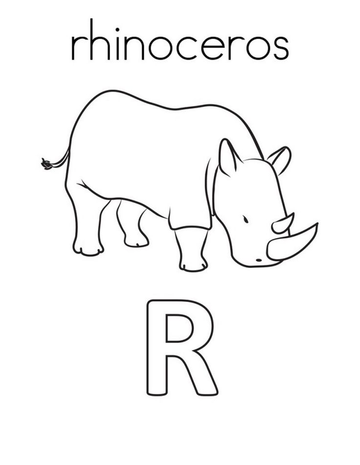 for teens Free Printable Rhinoceros Coloring Pages For Kids for girls