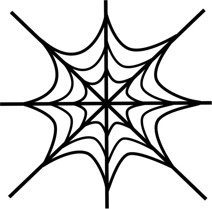 simple Free Printable Spider Web Coloring Pages For Kids for kids