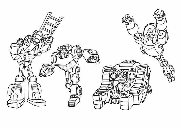 online Rescue Bots Coloring Pages - Best Coloring Pages For Kids for kindergarten