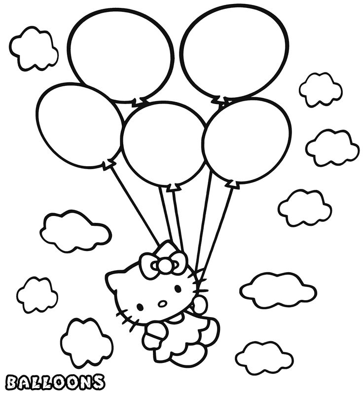 free Balloon Coloring Pages - Best Coloring Pages For Kids toddler