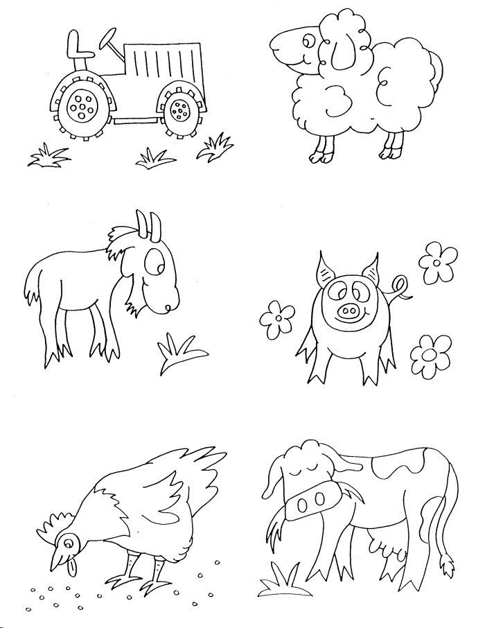 for adults Free Printable Farm Animal Coloring Pages For Kids to print out