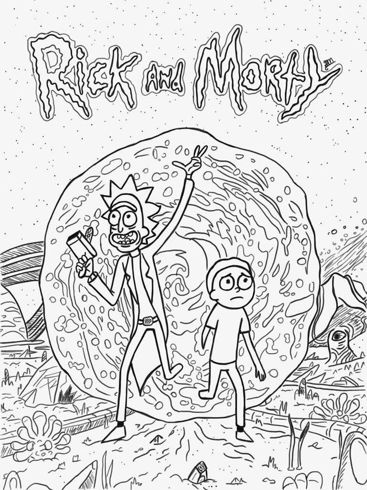 simple Rick and Morty Coloring Pages - Best Coloring Pages For Kids for toddlers