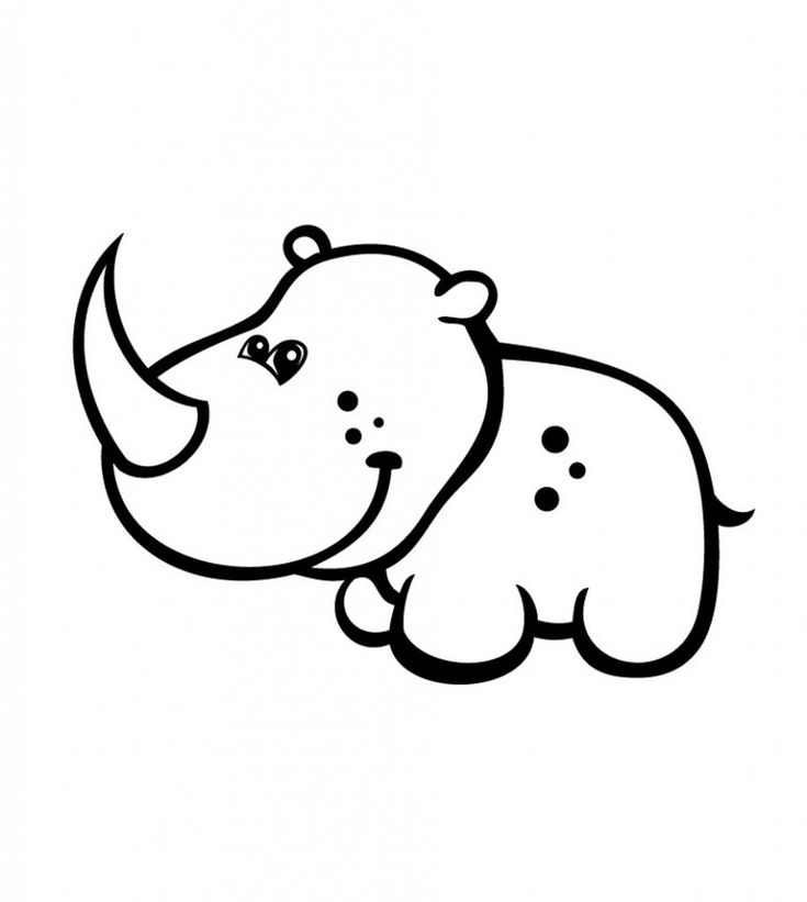 for teens Free Printable Rhinoceros Coloring Pages For Kids printable