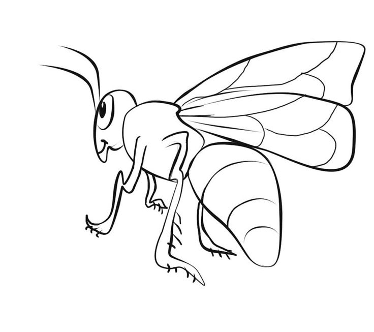 easy Free Printable Bee Coloring Pages For Kids easy