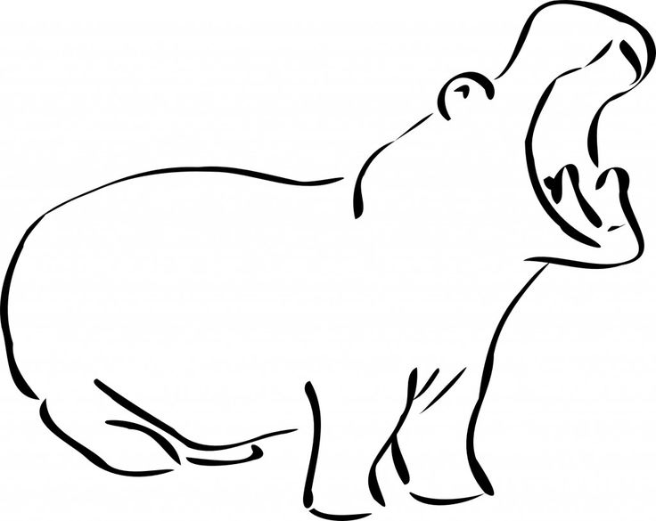 for kindergarten Free Printable Hippo Coloring Pages For Kids for toddlers
