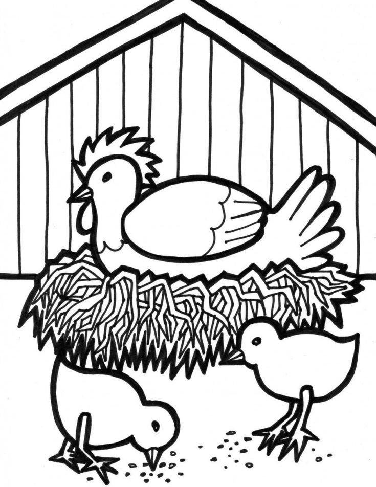 for adults Free Printable Farm Animal Coloring Pages For Kids for sunday school
