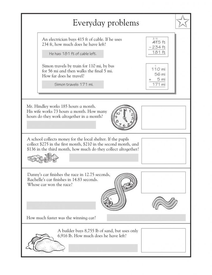 for sunday school 4th Grade Math Word Problems - Best Coloring Pages For Kids for toddlers