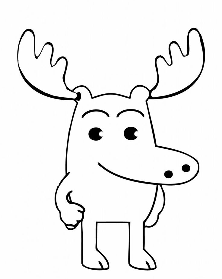 simple Free Printable Moose Coloring Pages For Kids printable