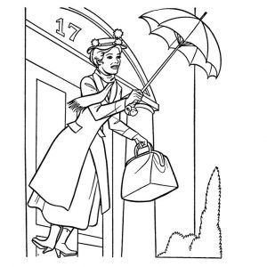 toddler Mary Poppins Coloring Pages - Best Coloring Pages For Kids for kindergarten