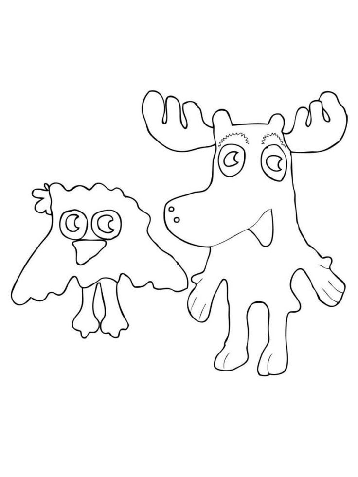 to print out Free Printable Moose Coloring Pages For Kids for boys