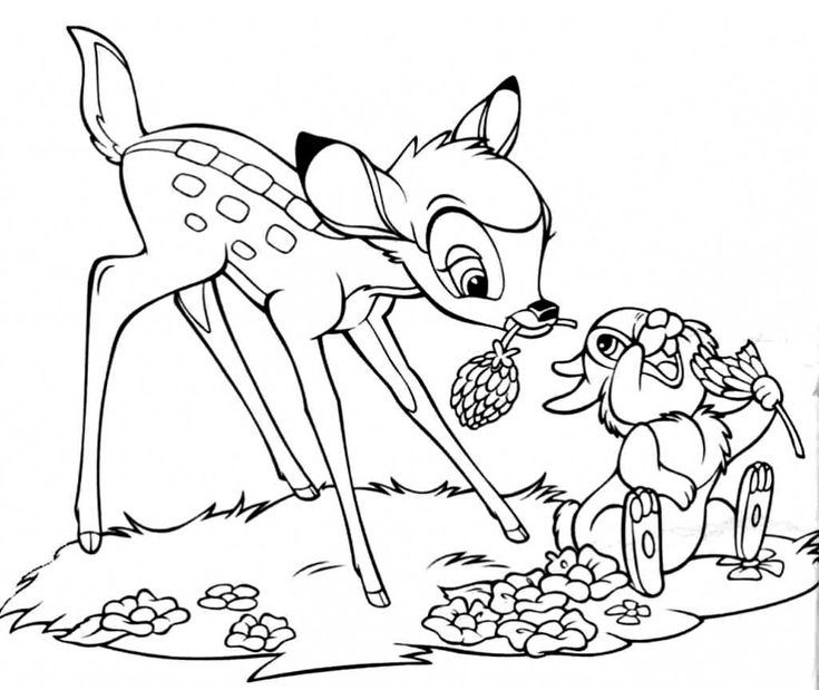 to print out Free Printable Bambi Coloring Pages For Kids pdf
