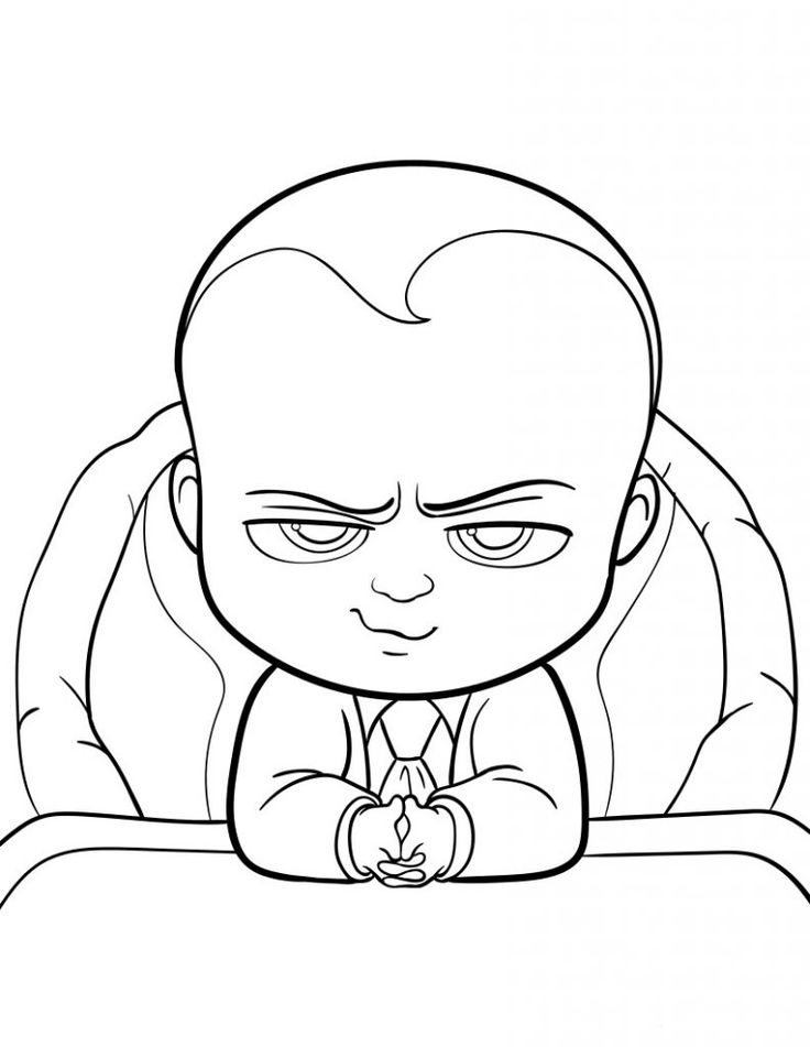 toddler Boss Baby Coloring Pages - Best Coloring Pages For Kids easy
