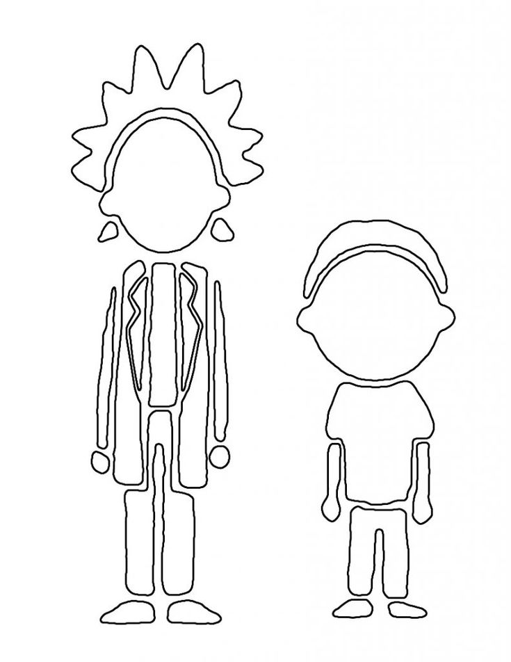 For Kindergarten Rick And Morty Coloring Pages Best