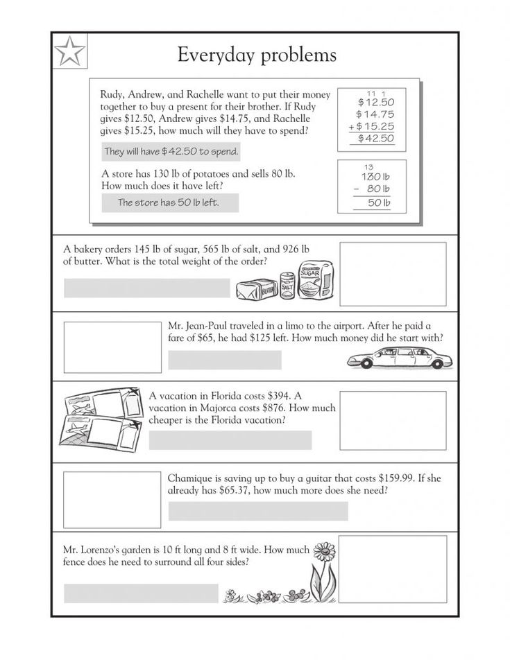 online 4th Grade Math Word Problems - Best Coloring Pages For Kids free printable
